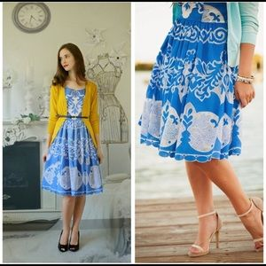 Plenty by Tracy Reese azure blue/white lace dress